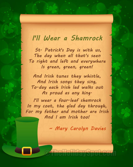 St. Patrick's Day Poems 18