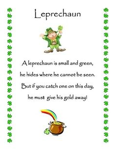 St. Patrick's Day Poems 20 St. Patrick's Day Poems