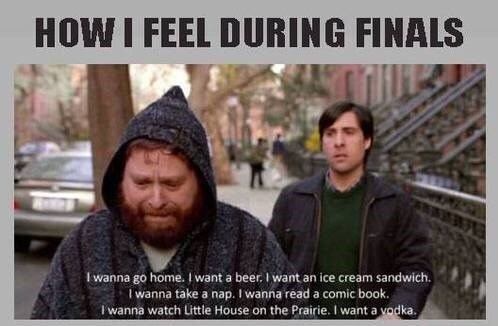 How I Feel Funny Quotes About Finals Week