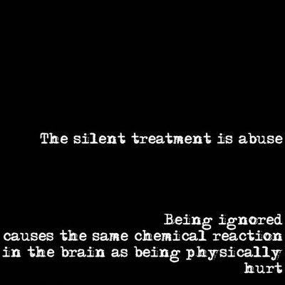 The Silent Treatment Is Abuse Being