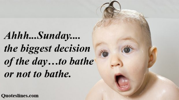 Ahhh.. Sunday The Biggest Decision Of The Day