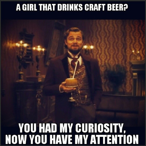 Craft Beer Meme A Girl That Drinks Craft Beer Graphic