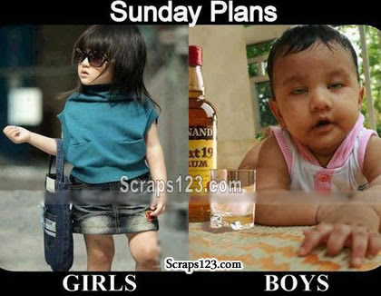 Sunday Plans Girls Boys