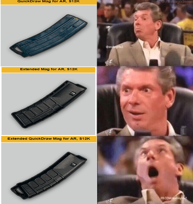 Quick Draw Mag For AR S12K PUBG Meme