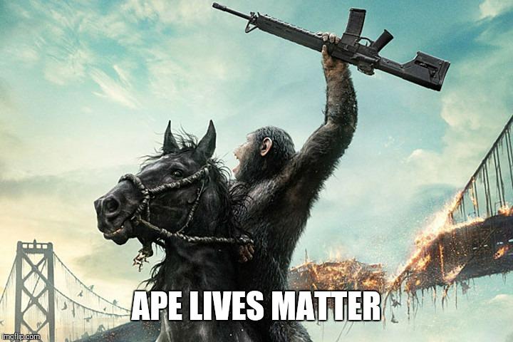 Ape Lives Matter Harambe Meme