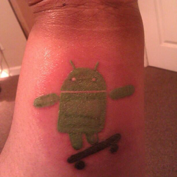 Famous Android Tattoo Design Idea On Men Arm