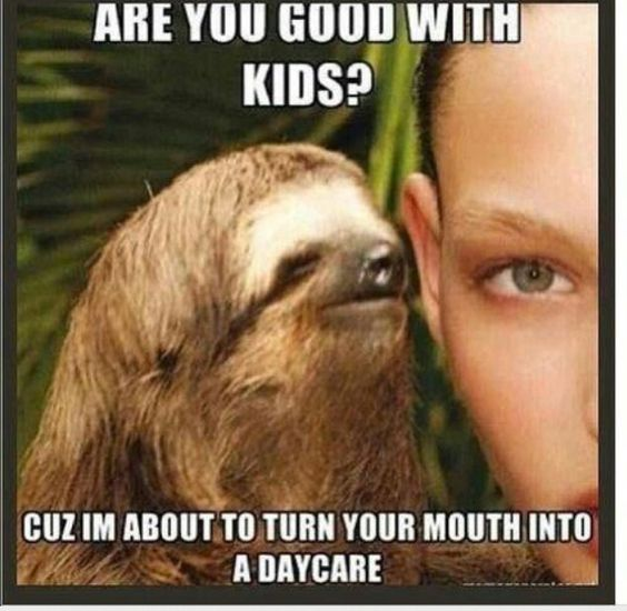 Funny Sloth Rape Memes Are you good with kids Photos