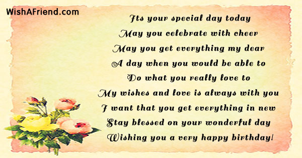 Its Your Special Day Happy Birthday Principal Poem