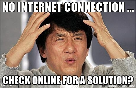 No Internet Connection Check Online For A Soulution