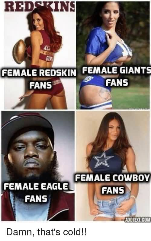 Redskins Female Redskin Fans