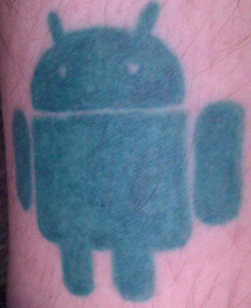 Small Green Android Tattoo Logo