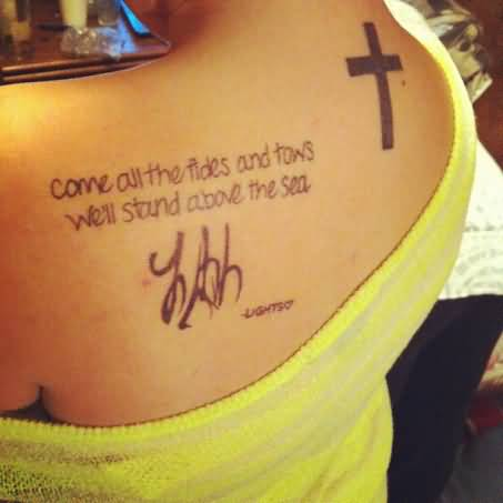 Wonderful Depression Tattoo Quotes On Back For Guys