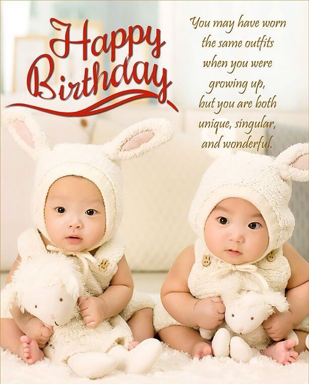 You May Have Worn Birthday Wishes For Twins Images