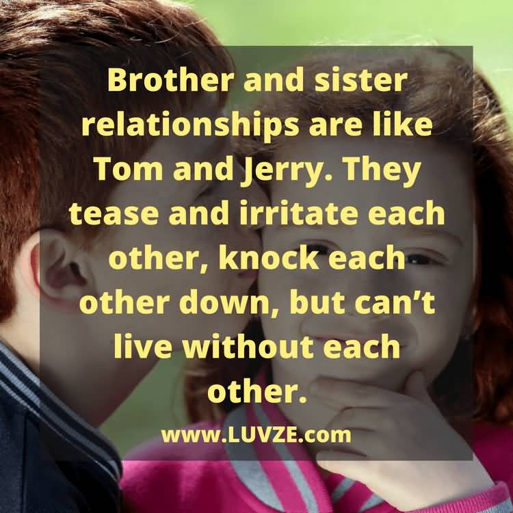 Brother And Sister Relationships Brother Quotes