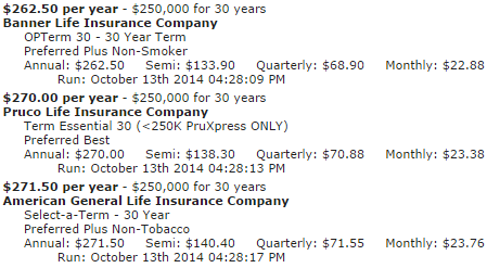 30 Year Term Life Insurance Quote 13