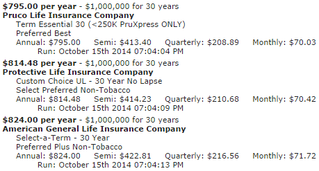 30 Year Term Life Insurance Quote 15