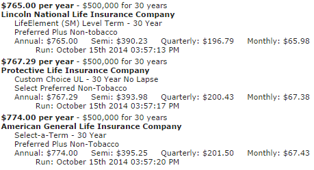 30 Year Term Life Insurance Quote 16