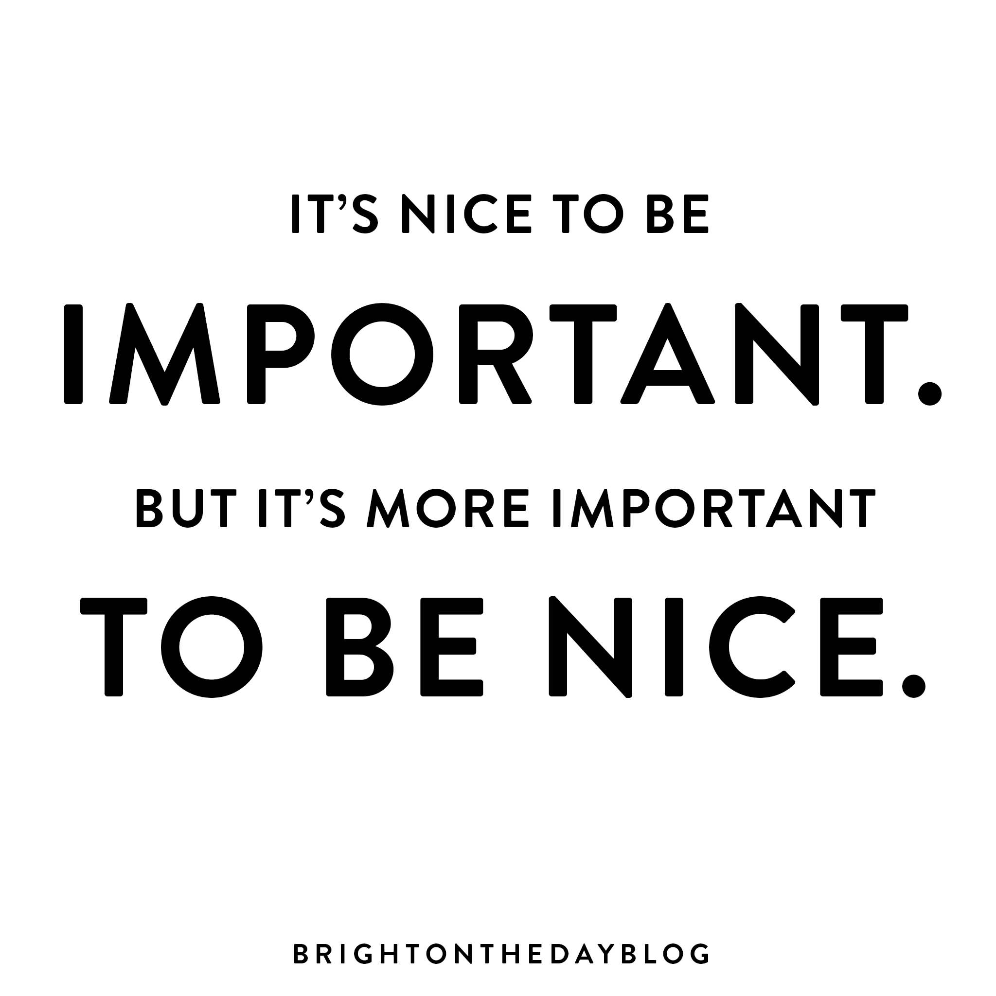 Be Nice Quotes Meme Image 16