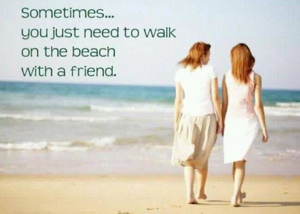 Beach And Friends Quotes Meme Image 04