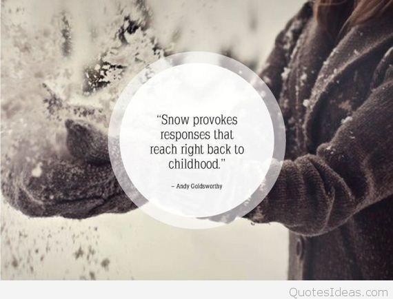 Cute Snow Quotes Meme Image 07