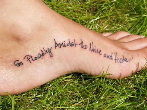 Good Quotes For Foot Tattoos Meme Image 11