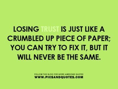 Lost Trust Quotes Meme Image 13