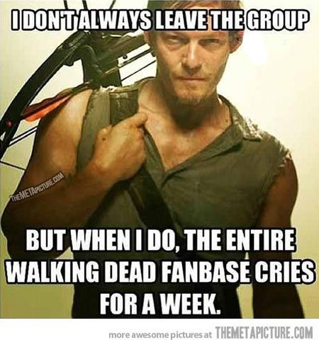 25 Walking Dead Funny Quotes Sayings & Graphics | QuotesBae