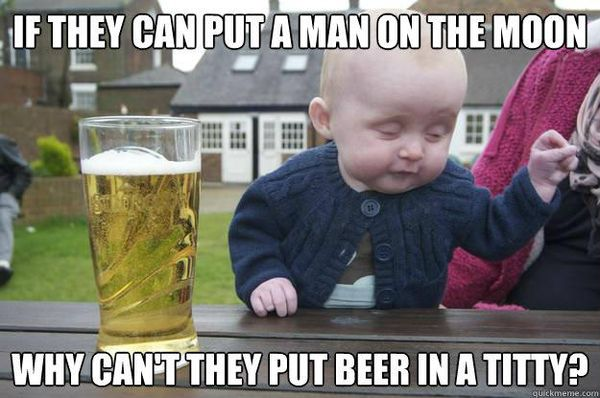 Amazing drinking beer meme picture