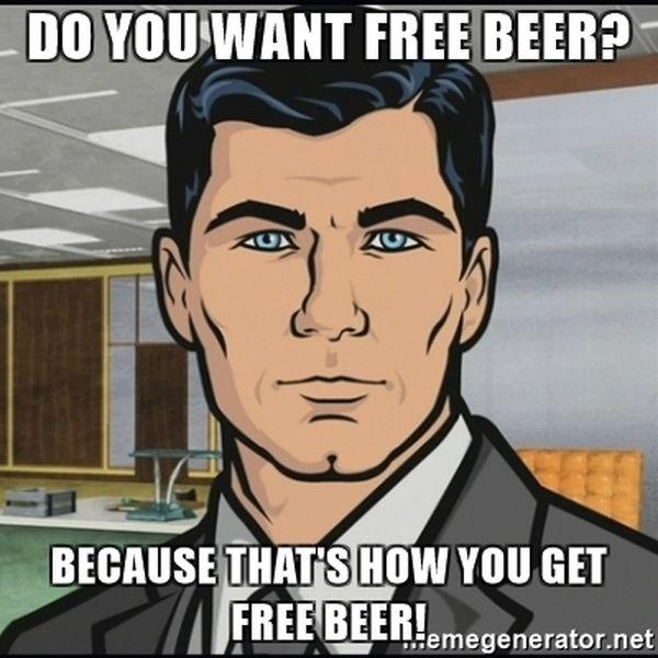 Amazing free beer meme jokes