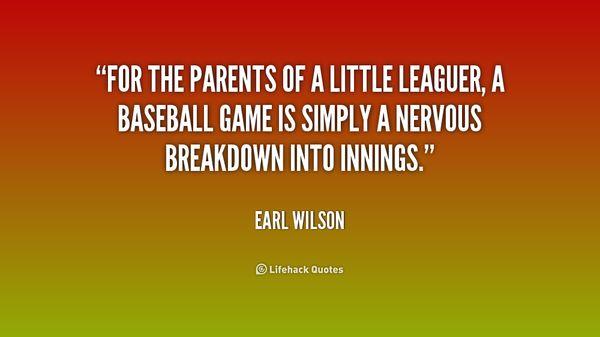 Baseball parents quotes meme