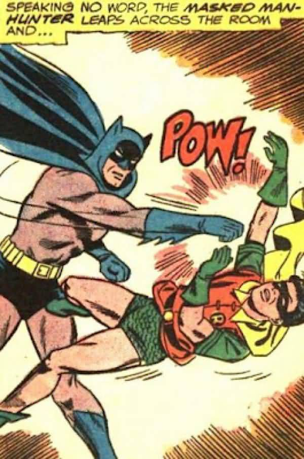 Batman Punches Robin Pictures Joke