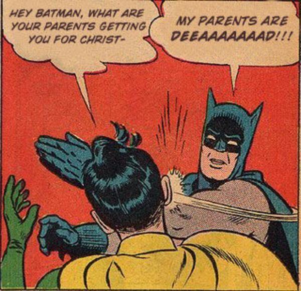 Batman Slapping Robin Original Meme