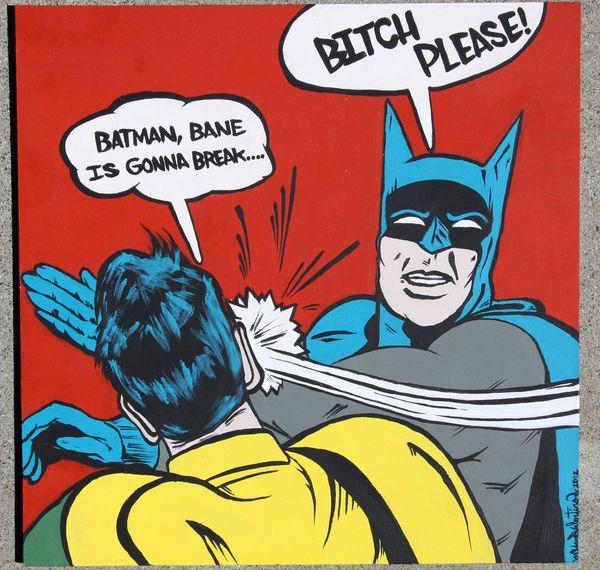Batman Slapping Robin Original Photo