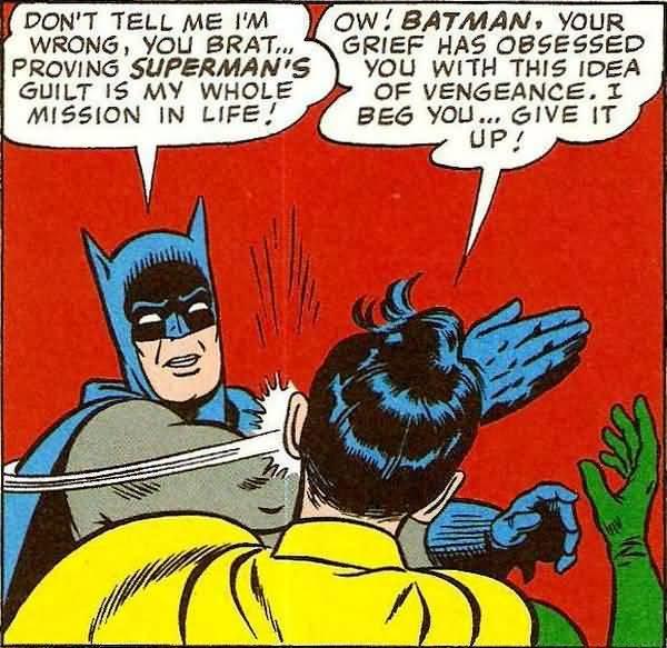Batman Slapping Robin Original Pictures