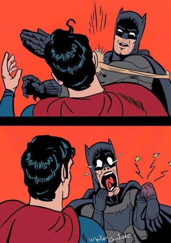 Batman Slaps Superman Humor Images