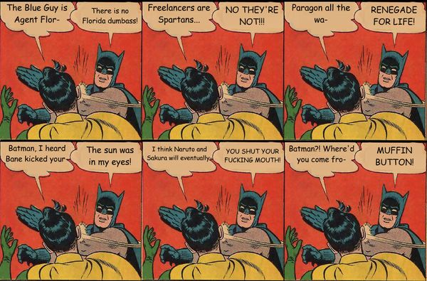 Batman Smacks Robin Comic Images