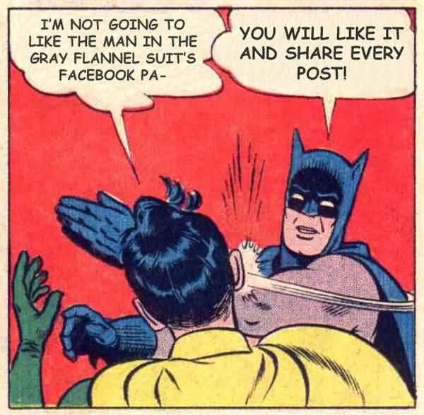 Batman Smacks Robin Comic Joke