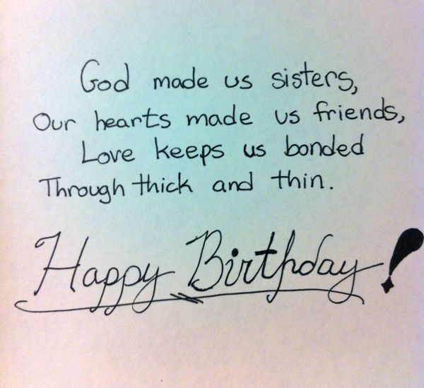 Birthday quotes for sister funny joke
