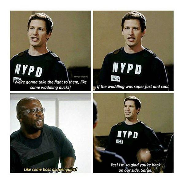 Brooklyn 99 terry catches jake meme