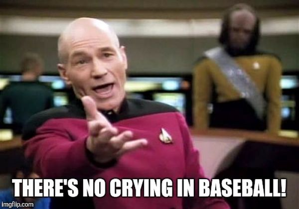 Common about no crying in baseball meme images