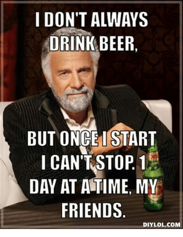 Common drinking beer meme picture