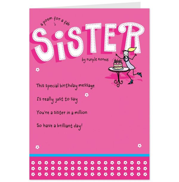 Cool birthday wishes for sister funny joke