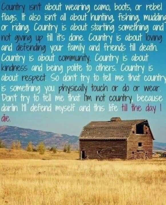 Country Life Quotes And Sayings 13 | QuotesBae