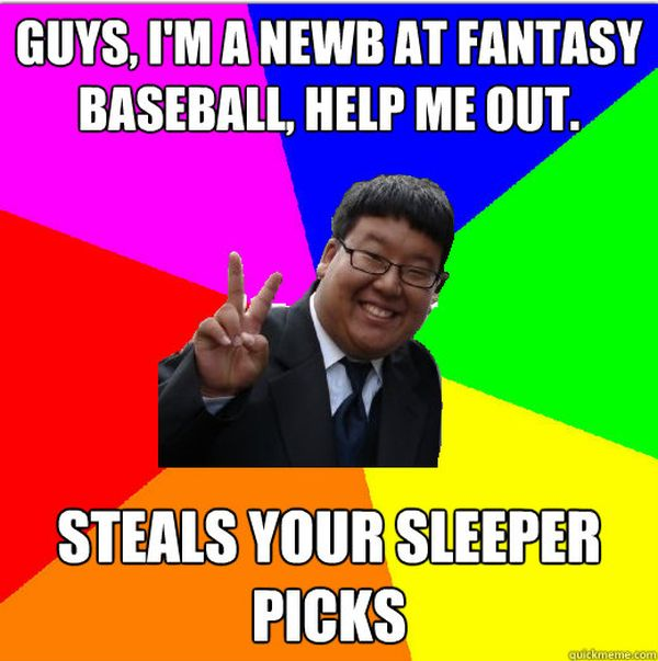 Extra fantasy baseball memes joke