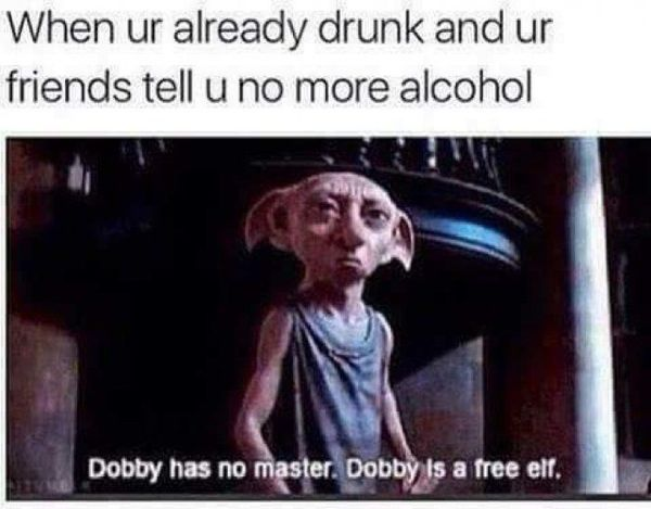 Funny Alcohol is bad meme image