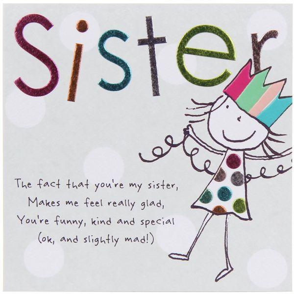 Funny birthday greetings for sister picture