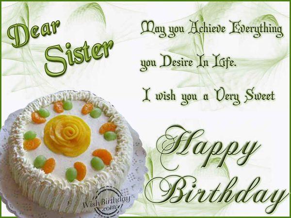 Funny birthday message for sister joke