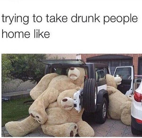 Funny drunk people meme Image