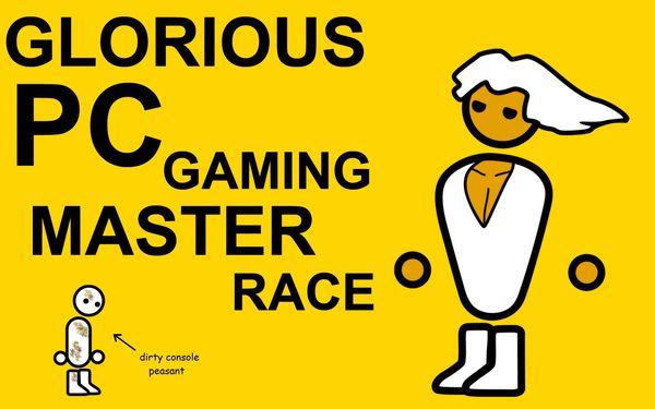 Funny glorious PC gaming master race joke