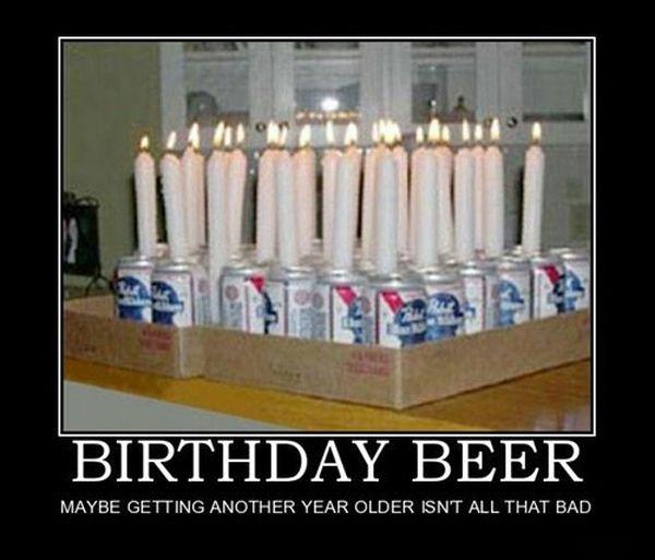 Funny happy birthday beer meme graphics